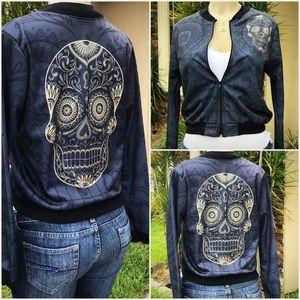 New Mexican Sugar Skull Bomber Jacket HD Print